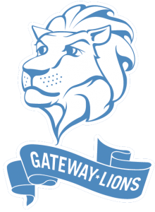 Gateway Lions on Clear Background